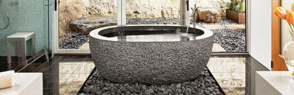 Stone Forest Bath Tub by Animas Kitchens